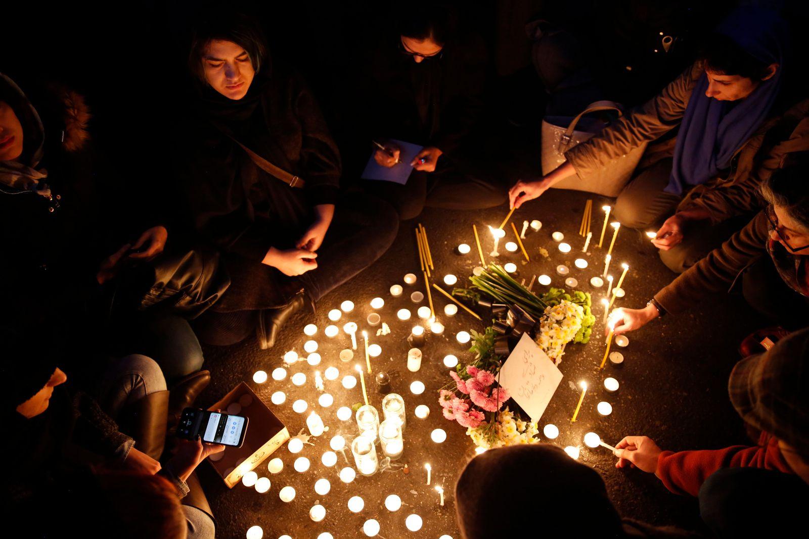Protets over Iran admits shooting down Ukraine International Airlines plane,, Tehran, Iran Islamic Republic Of - 11 Jan 2020