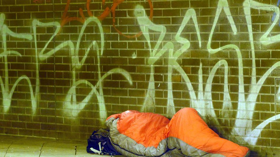 Obdachloser in Berlin