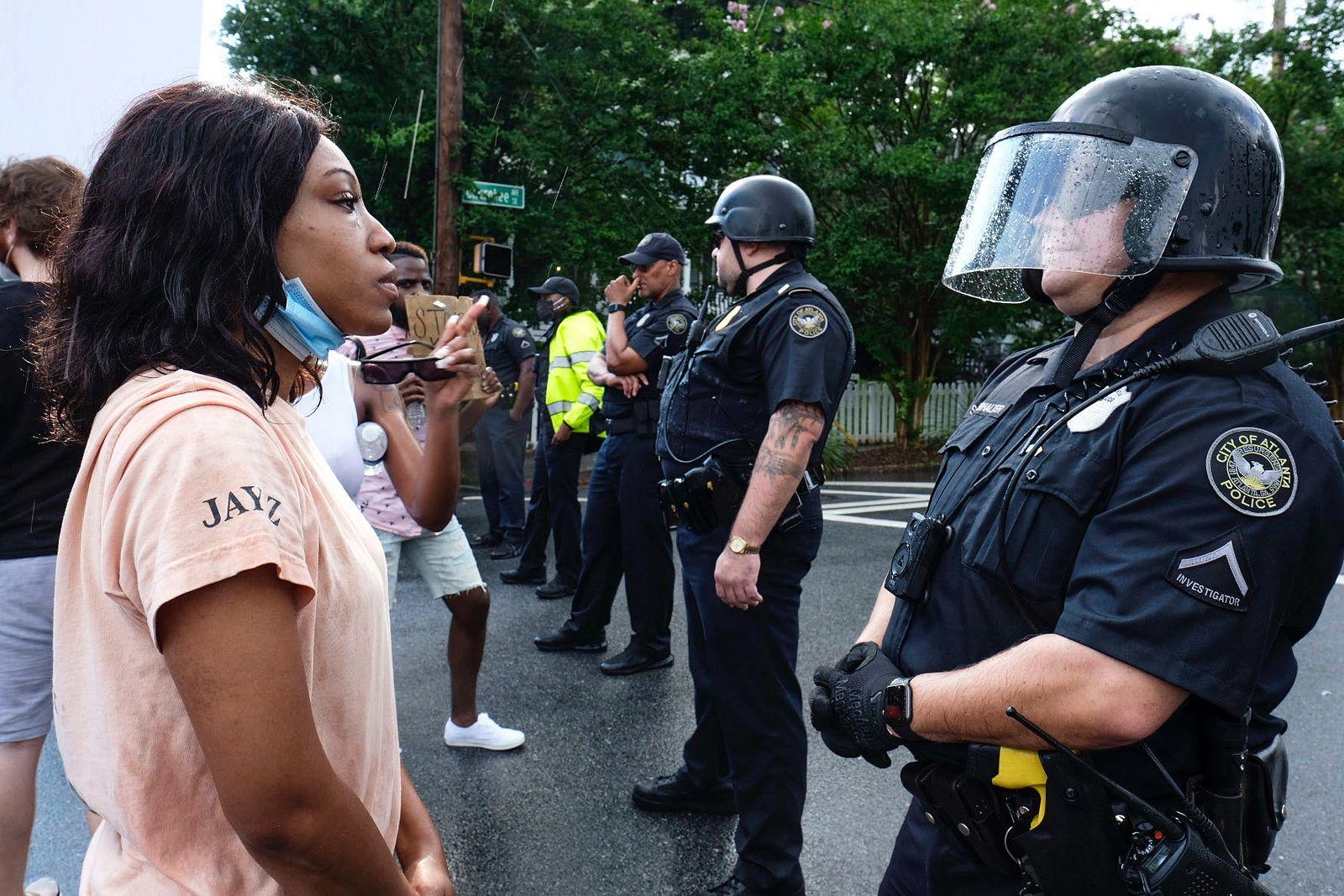 Proteste gegen Rassismus - Atlanta