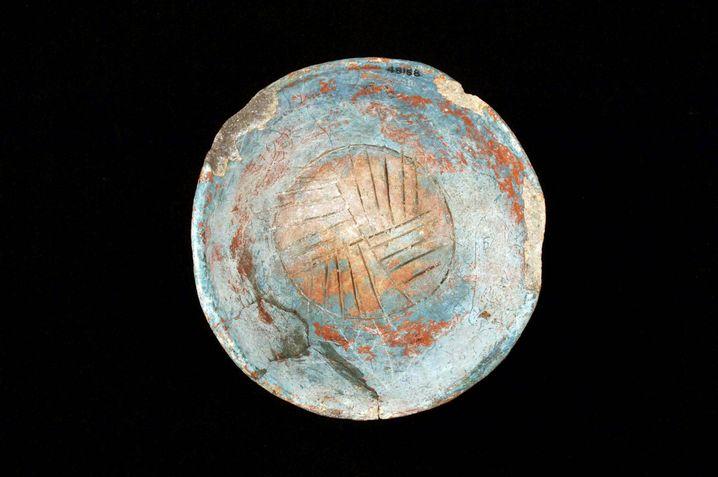 Schale aus Chichen Itza: Die Maya nutzten einen speziellen Farbton, das Maya-Blau