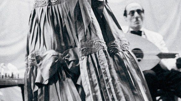 Sängerin Umm Kulthum, um 1960