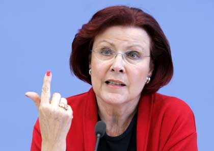 Wieczorek-Zeul: Kritik an Streubomben bringt ihr Kritik ein