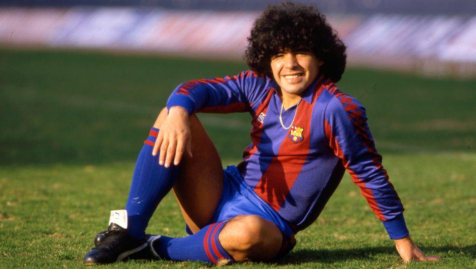 Diego Maradona spielte von 1982 bis 1984 bei Barça