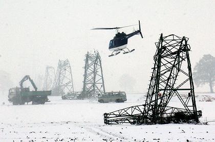 Umgeknickte Strommasten nahe Münster: Zehntausende erneut ohne Energieversorgung