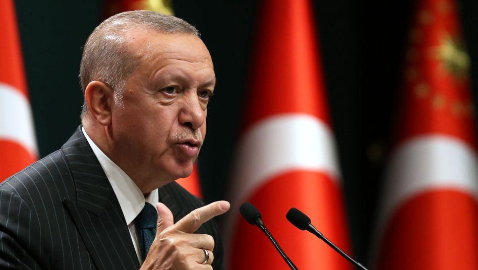 Der türkische Präsident Erdoğan: Die Türkei werde niemals Zugeständnisse machen
