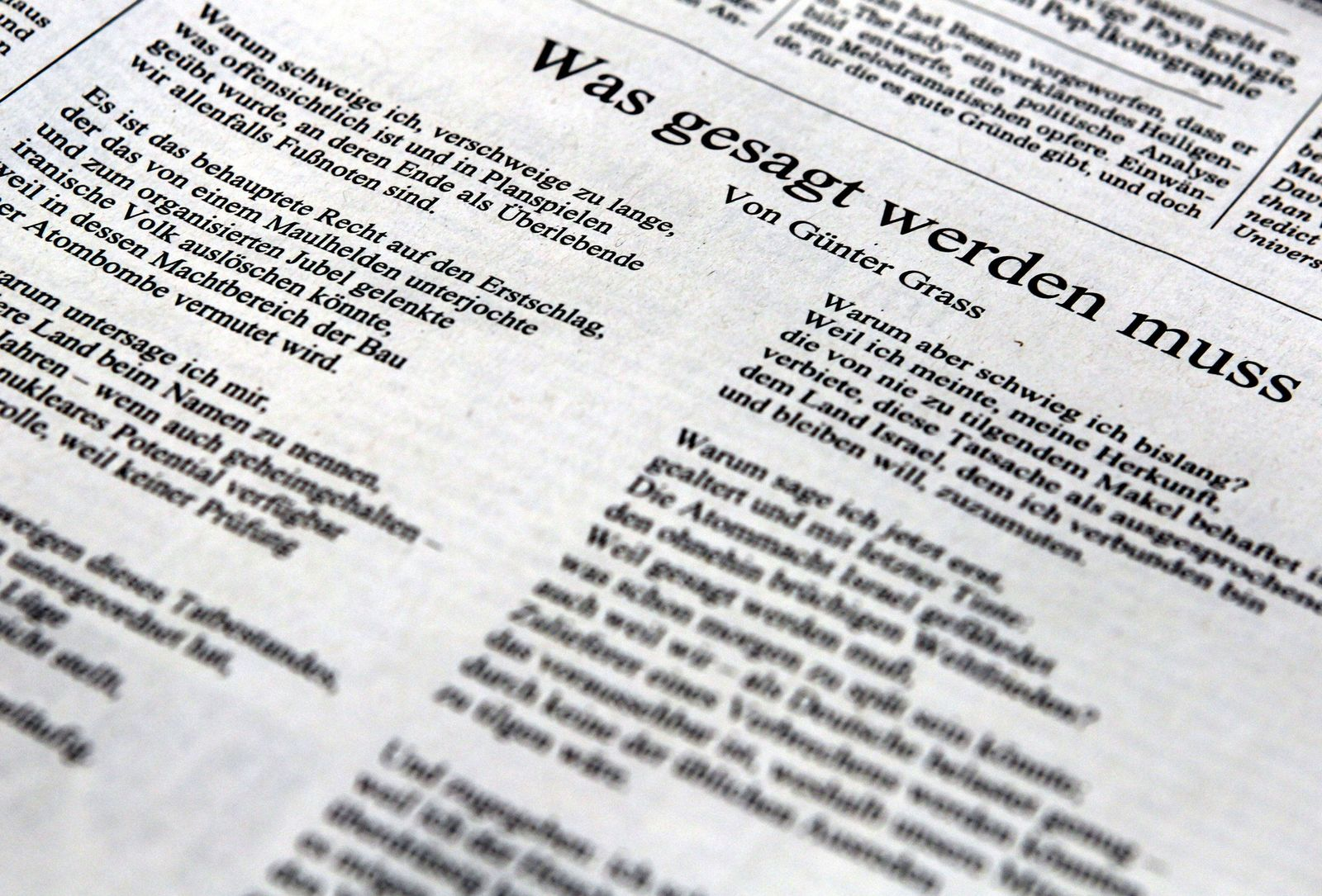 Günter Grass / Gedicht