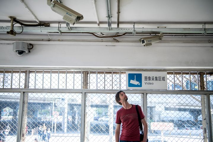 Stephan Orth in China: Überwachungskameras sind in Großstädten allgegenwärtig.