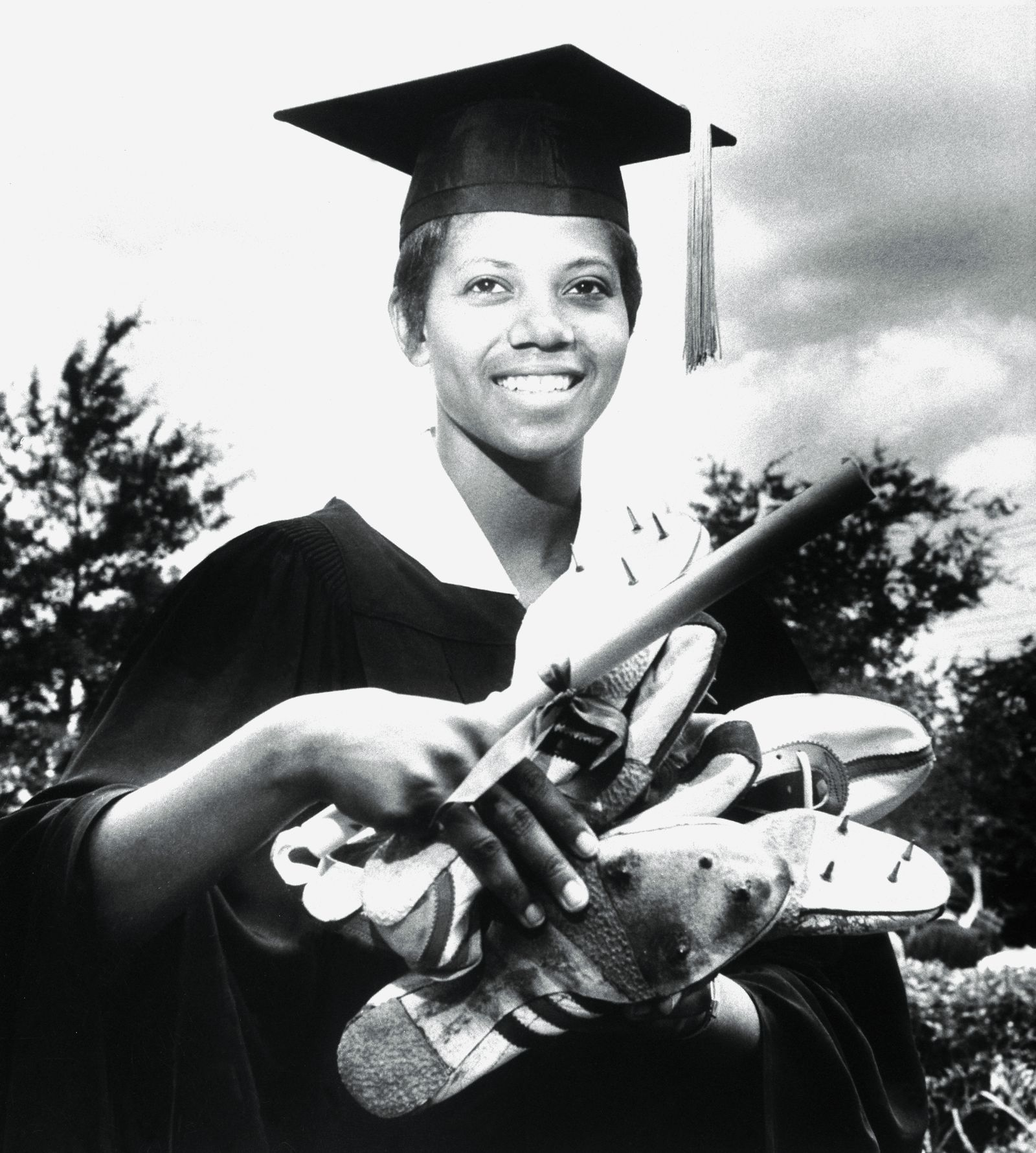 Olympic Gold Medal Winner Wilma Rudolph Graduating from College