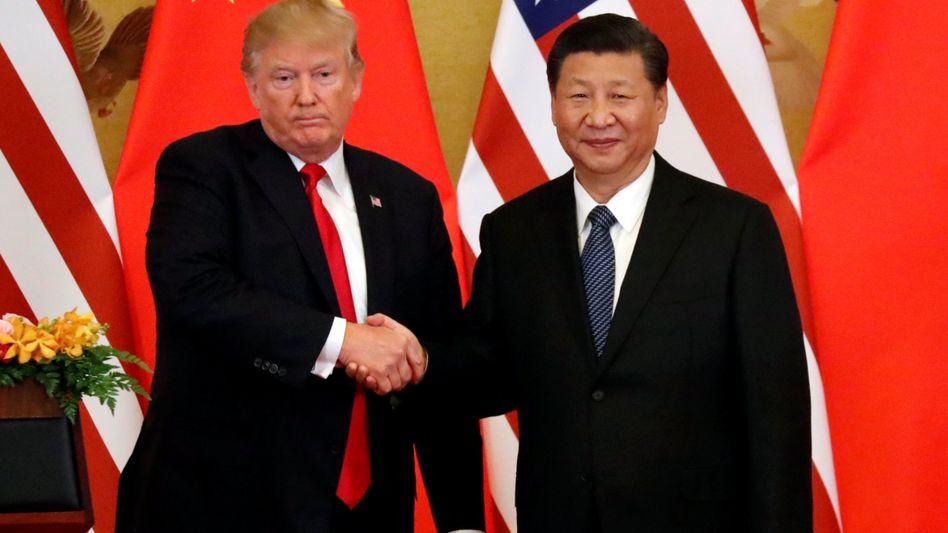 Präsidenten Donald Trump, Xi Jinping in Peking (Archiv)