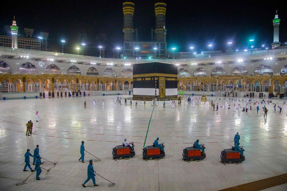 Kaaba im Zentrum der Großen Moschee