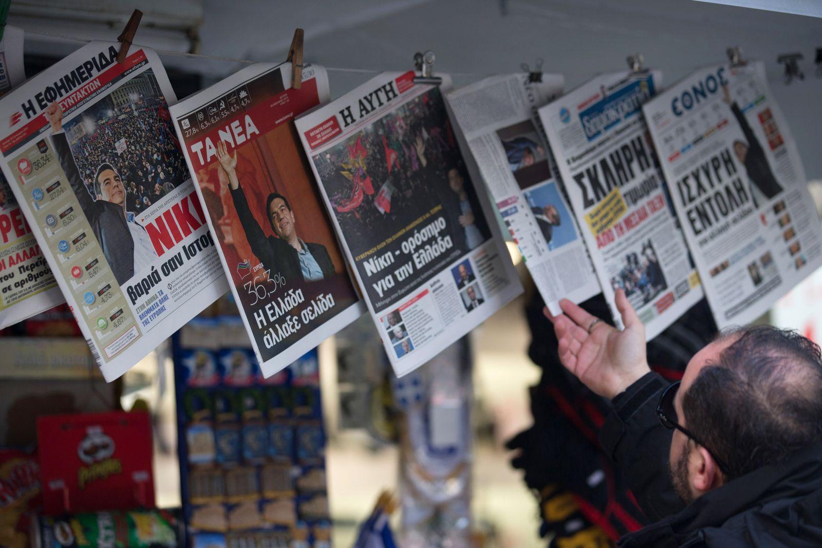 Zeitungen Athen