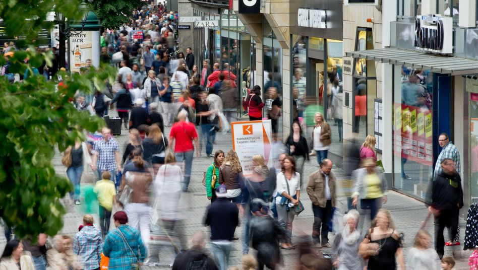 Straßenszene in Nürnberg: Ungleichheit hemmt Wachstum