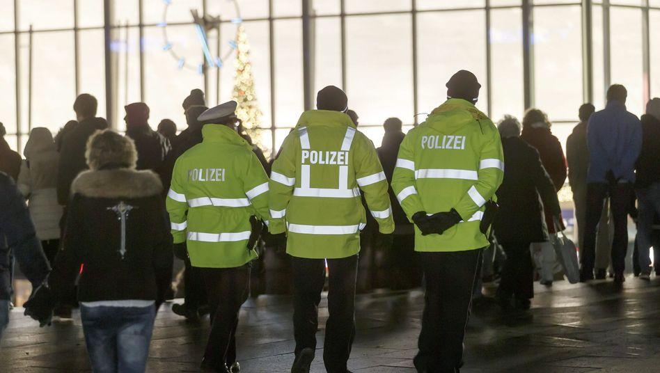 Polizisten in der Kölner Silvesternacht