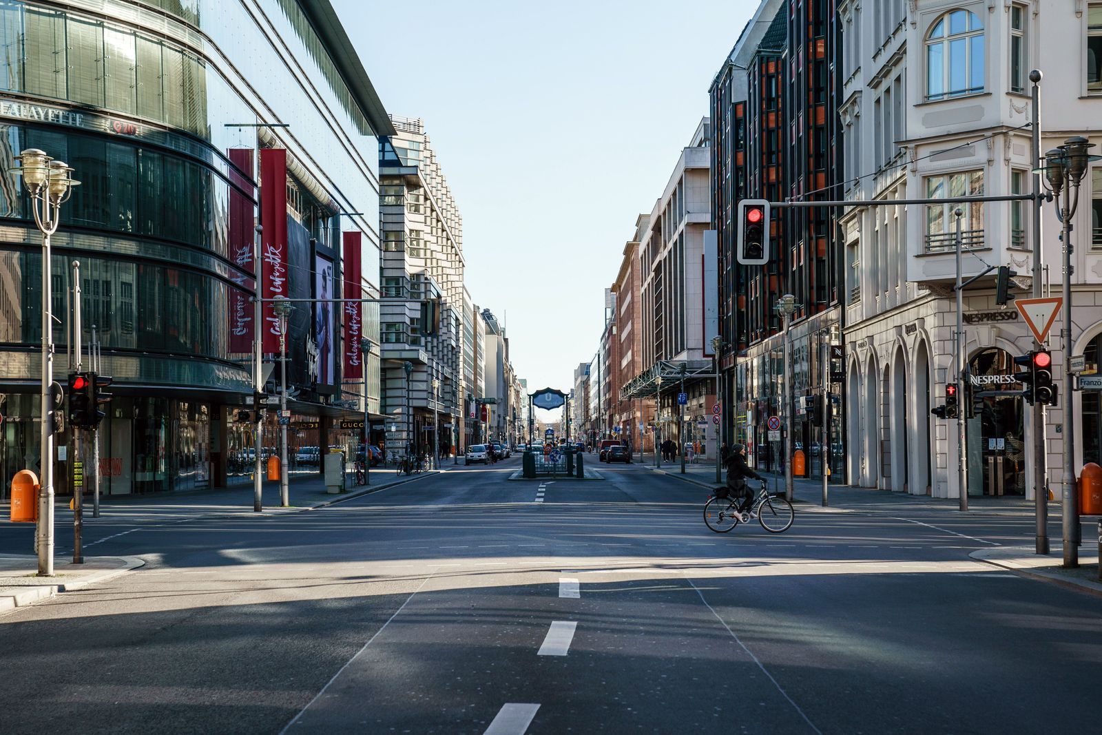 Empty streets during coronavirus crisis in Berlin, Germany - 22 Mar 2020