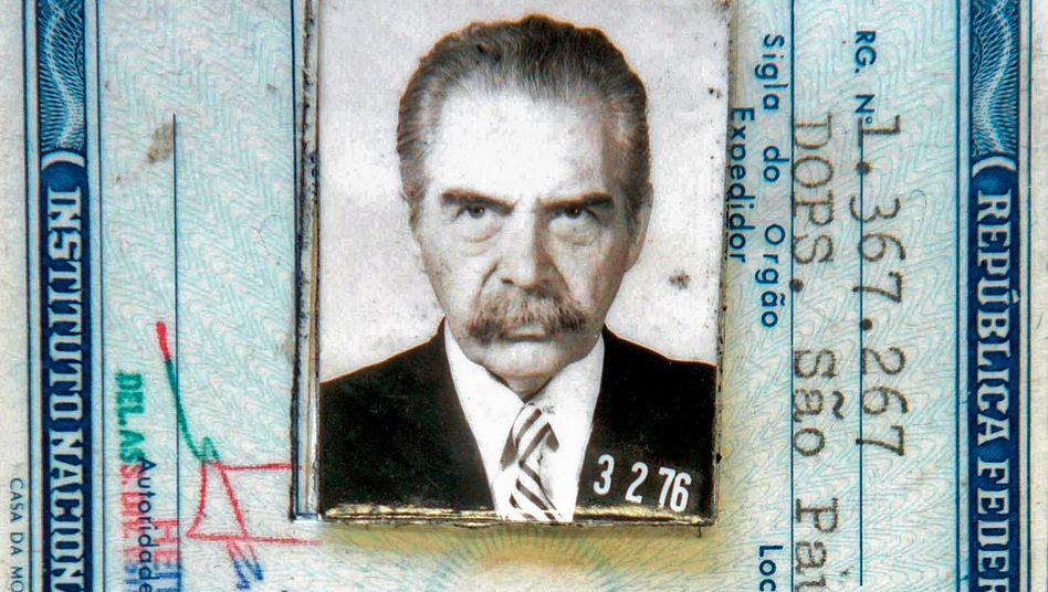Gefälschter brasilianischer Ausweis Mengeles