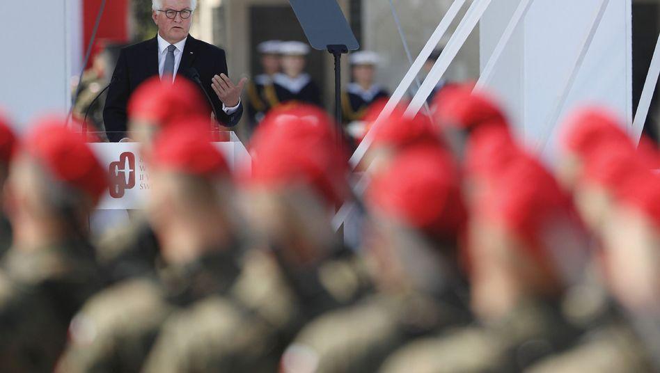 """Frank-Walter Steinmeier bei der Gedenkfeier in Warschau: Nicht als die """"besseren Europäer"""" empfinden"""