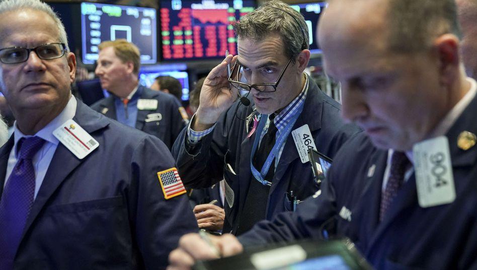 Händler an der New Yorker Börse