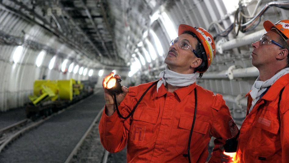 Bergleute in der Zeche Prosper-Haniel (2011)