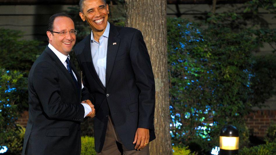 Hollande und Obama beim G-8-Gipfel in Camp David: Treffen der schönen Bilder