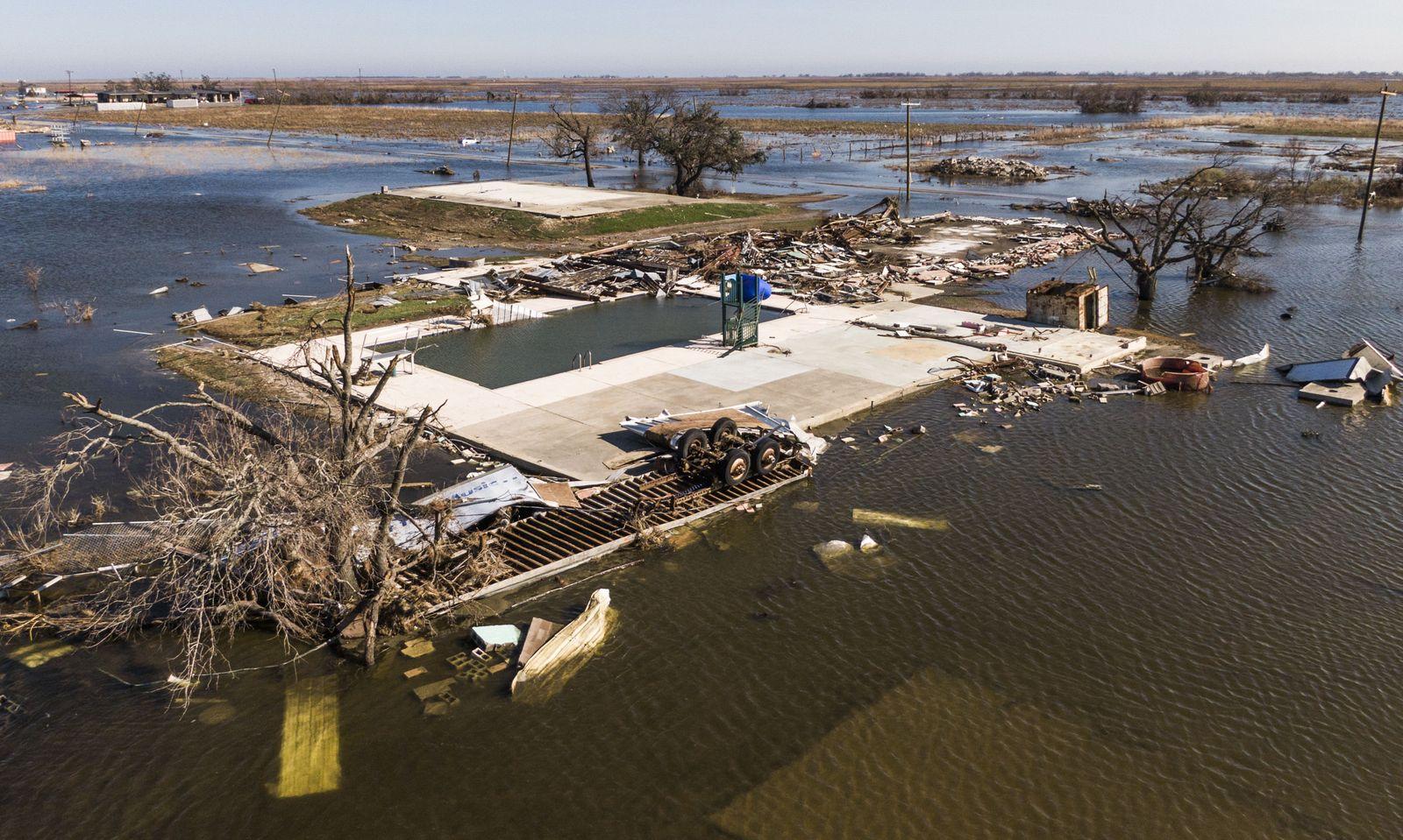 Hurricane Delta aftermath, Cameron, USA - 10 Oct 2020