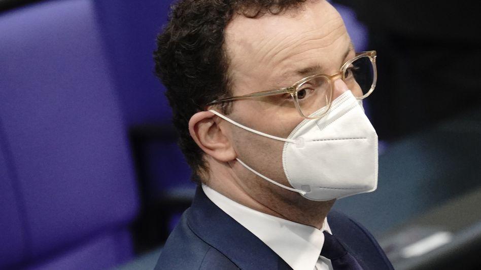Gesundheitsminister Spahn mit FFP2-Maske