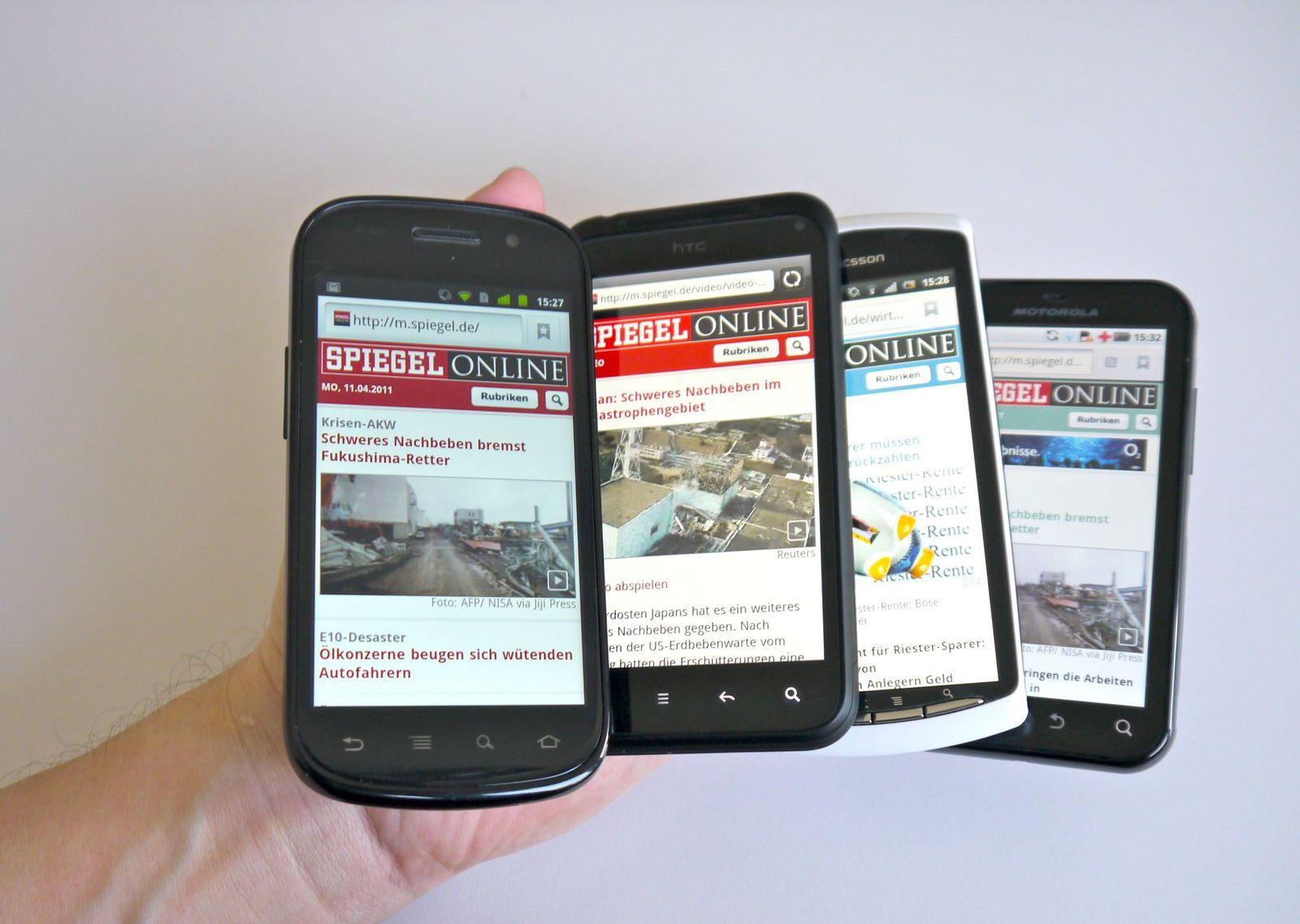 Android Handy / Vergleich / Netzwelt