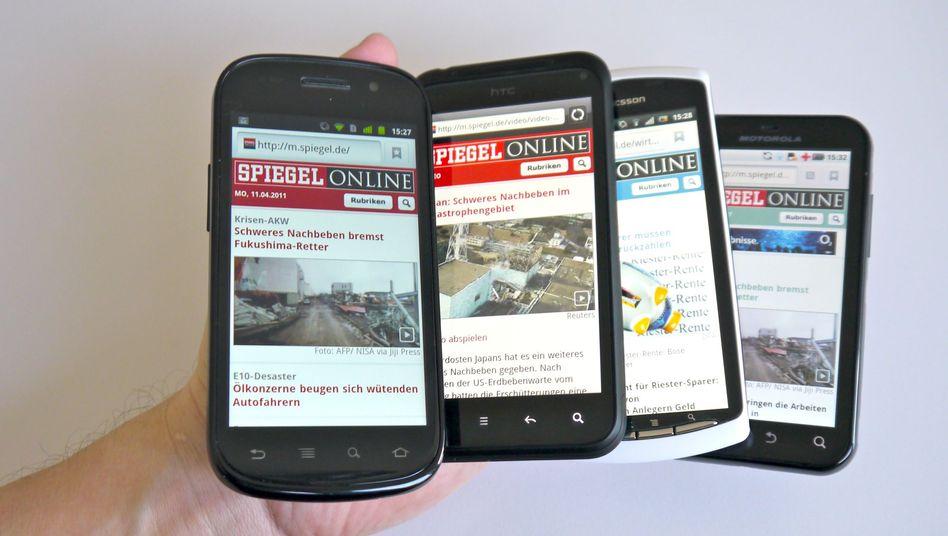 Android-Smartphones (Symbolbild)