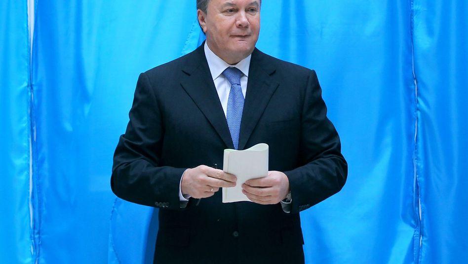 Präsident Wiktor Janukowitsch: Bedingungen im Wahlkampf unfair