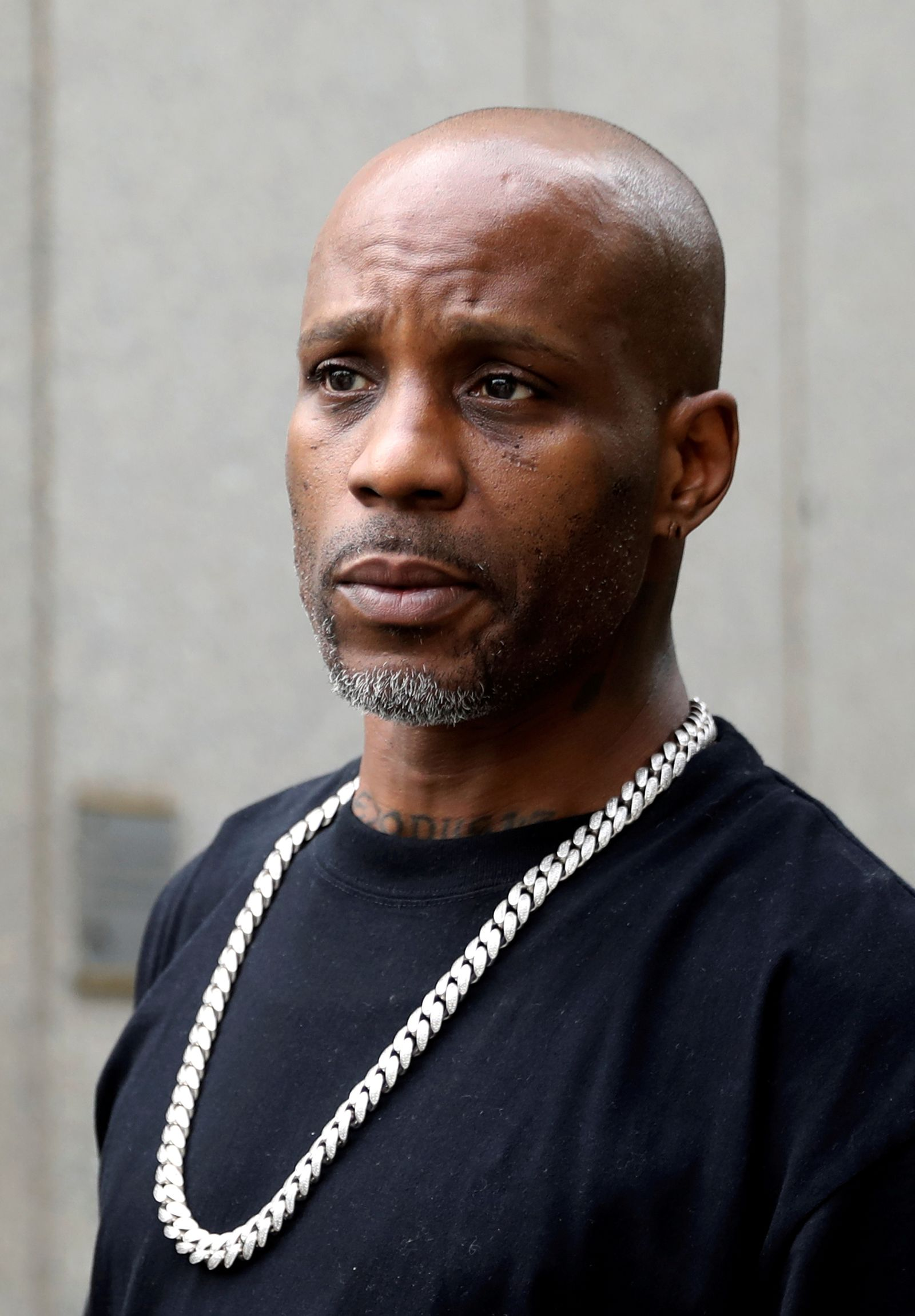 FILE PHOTO: Rapper DMX exits the U.S. Federal Court in Manhattan following a hearing regarding income tax evasion charges in New York
