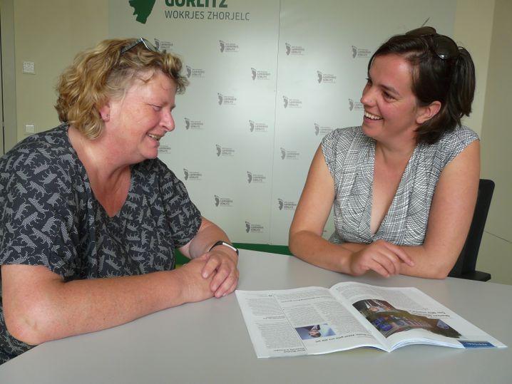 Gleichstellungsbeauftragte Ines Fabisch und Forscherin Julia Gabler im Gespräch: Sie wollen gemeinsam Frauen in Görlitz stärken und besser vernetzen