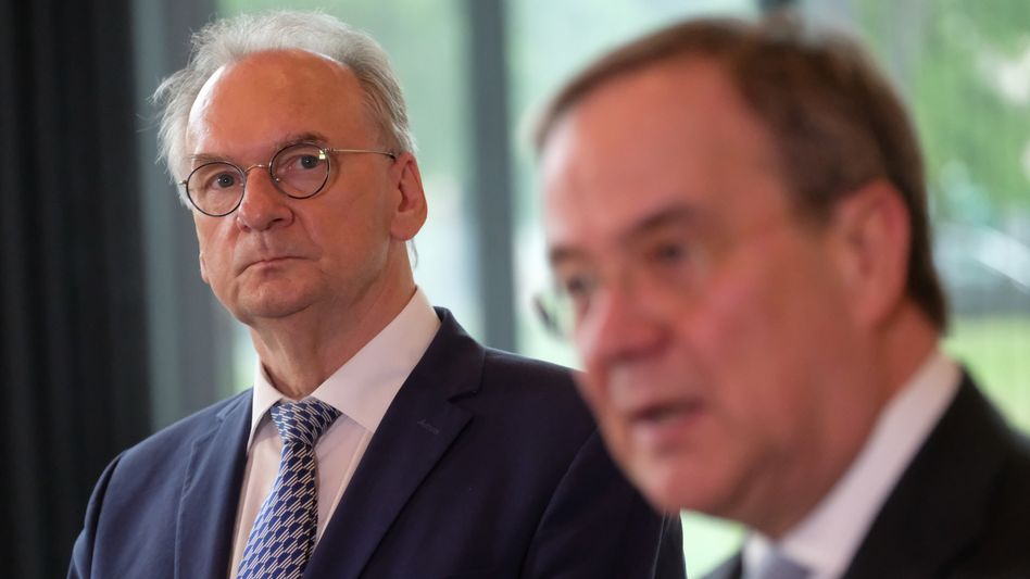 CDU-Politiker Haseloff, Laschet