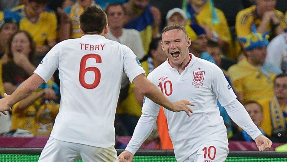 Nationalspieler Terry, Rooney: Im Viertelfinale gegen Italien