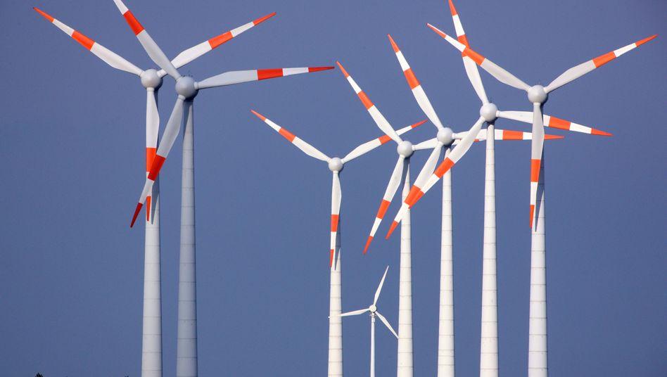 Windkraftanlage in Brandenburg: Starke Winde halfen Ökostrom dieses Jahr