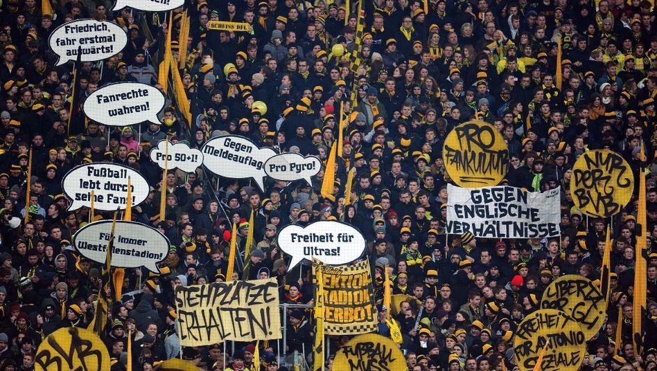 Fanproteste in Dortmund: Die Bundesligastadien sind sicher