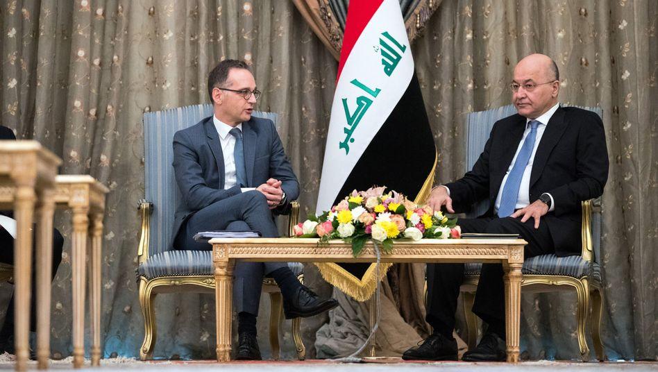 Außenminister Heiko Maas und Badham Salih, Präsident der Republik Irak