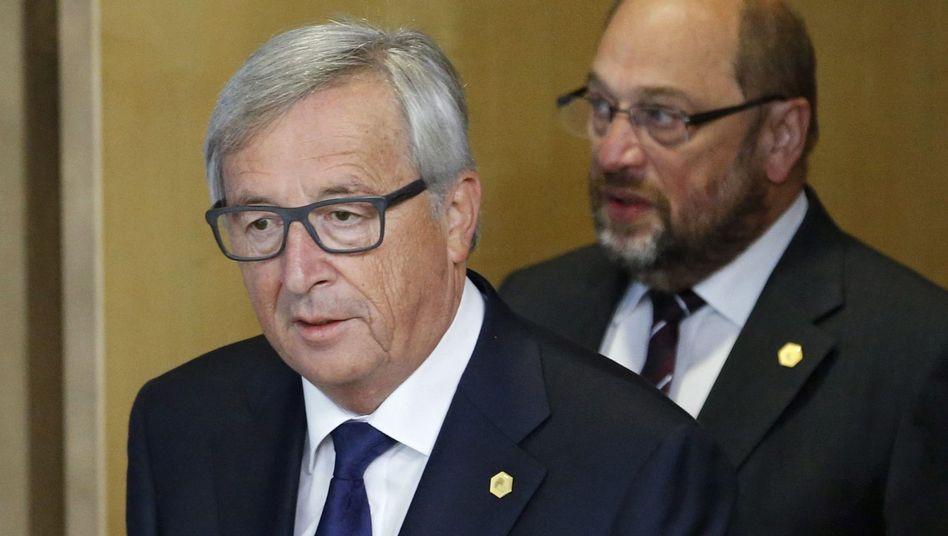 Jean-Claude Juncker, Martin Schulz (r.)