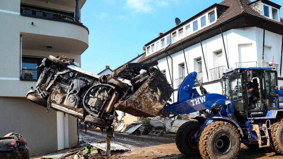 THW-Einsatz in Ahrweiler: Helferinnen und Helfer beschimpft