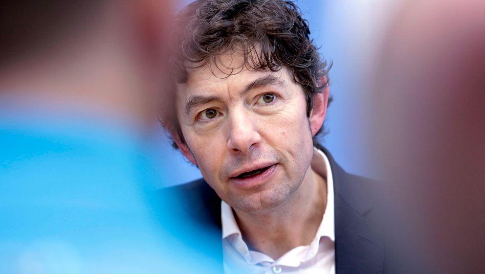 Virologe Christian Drosten während einer Pressekonferenz am 2. März in Berlin