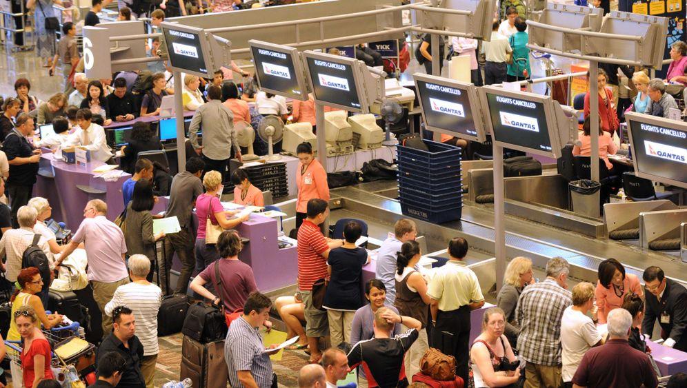 Streik bei Qantas: Passagiere stranden an Flughäfen