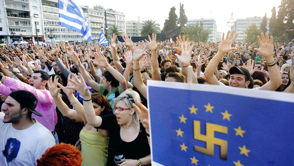 """Proteste in Griechenland (am 30. Mai): """"Kein Selbstbedienungsladen"""""""