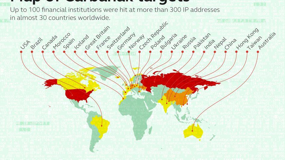 Carbanak: Bis zu hundert Banken in fast 30 Ländern wurden Opfer des Diebstahls