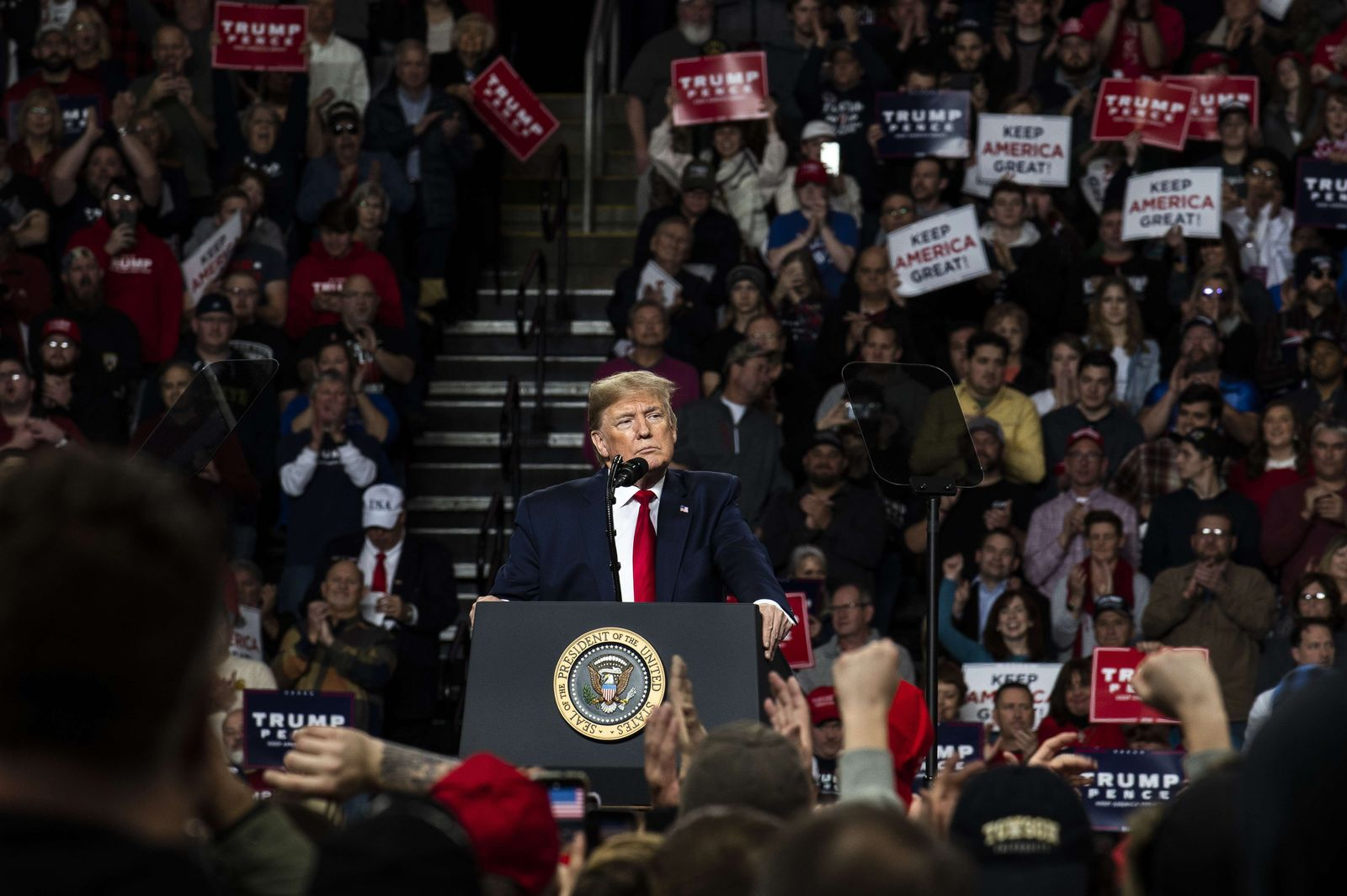 "President Donald Trump Holds ""Keep America Great"" Campaign Rally In Toledo, Ohio"