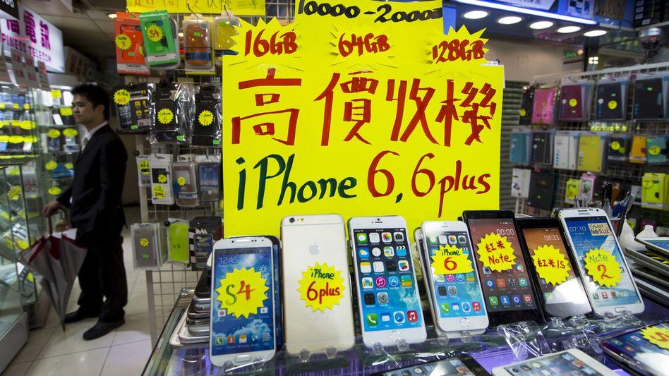 Elektronikgeschäft in Hongkong: Bricht die iPhone-Nachfrage ein?