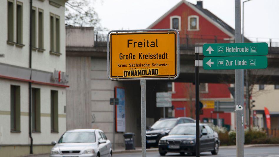 Ortsschild von Freital
