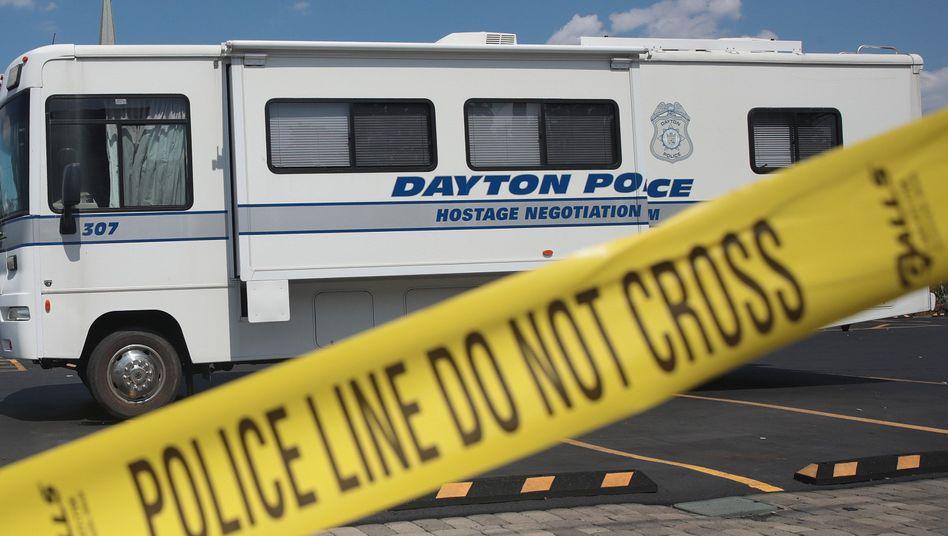 Polizeiabsperrung in Dayton (am 4. August): Schütze stand offenbar unter Drogeneinfluss