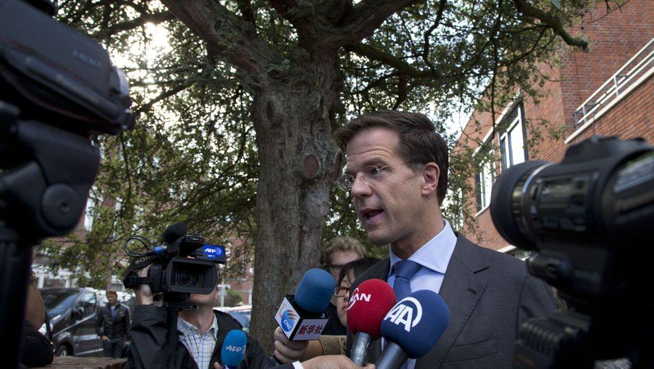 Ministerpräsident Mark Rutte: Die Partei des Rechtsliberalen liegt knapp vorn