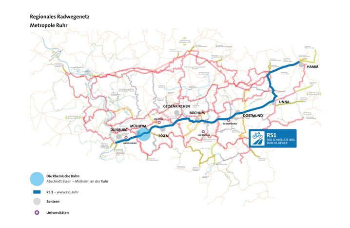 Der geplante Streckenverlauf des RS1