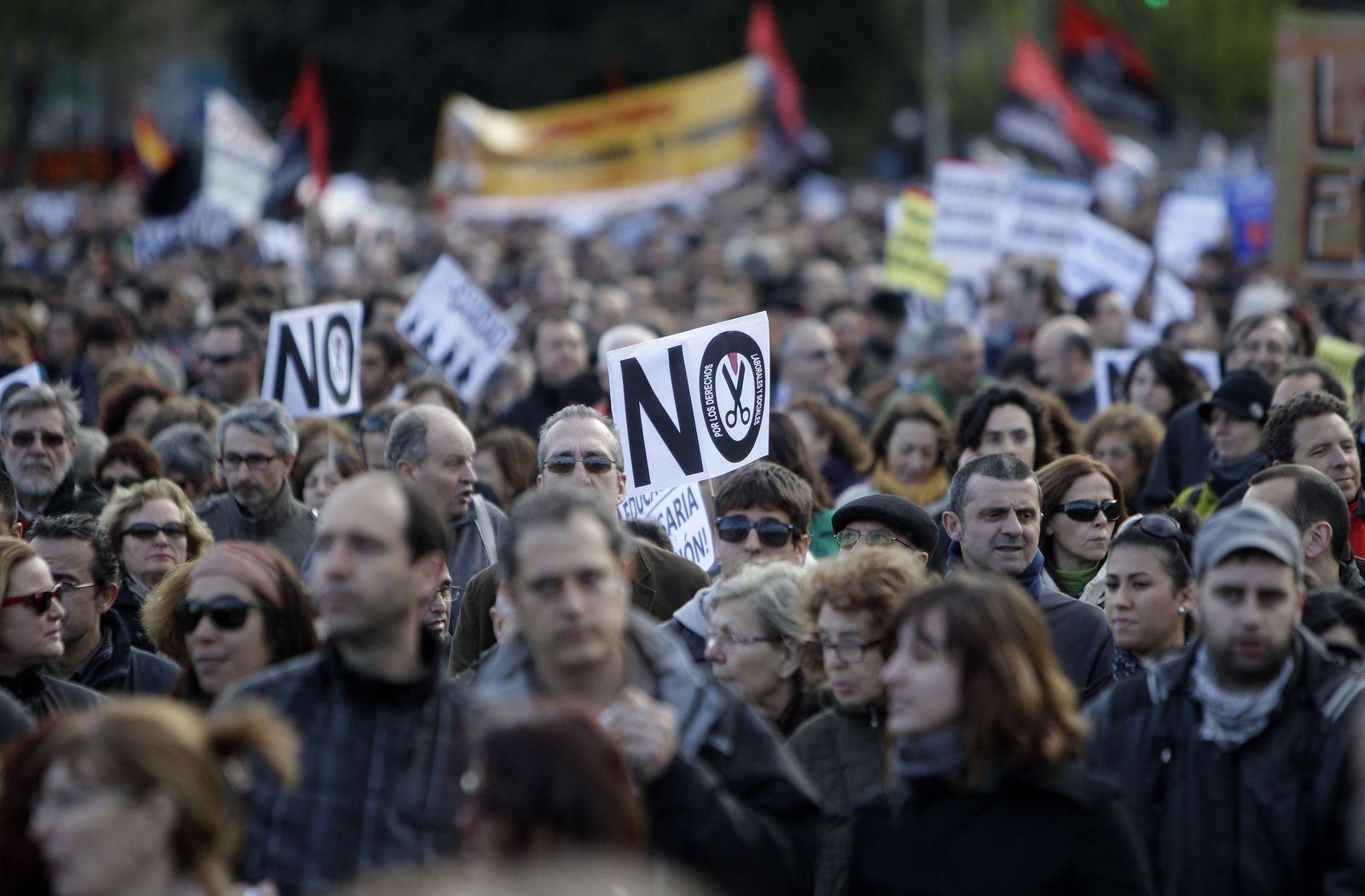 Finanzkrise Spanien/ Demo