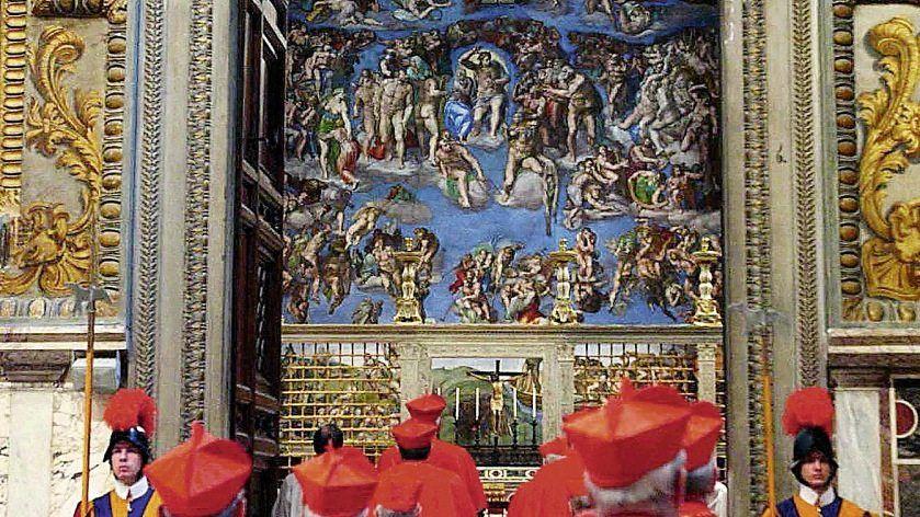 Einzug der Kardinäle zum Konklave 2005: Kampf um Stimmen