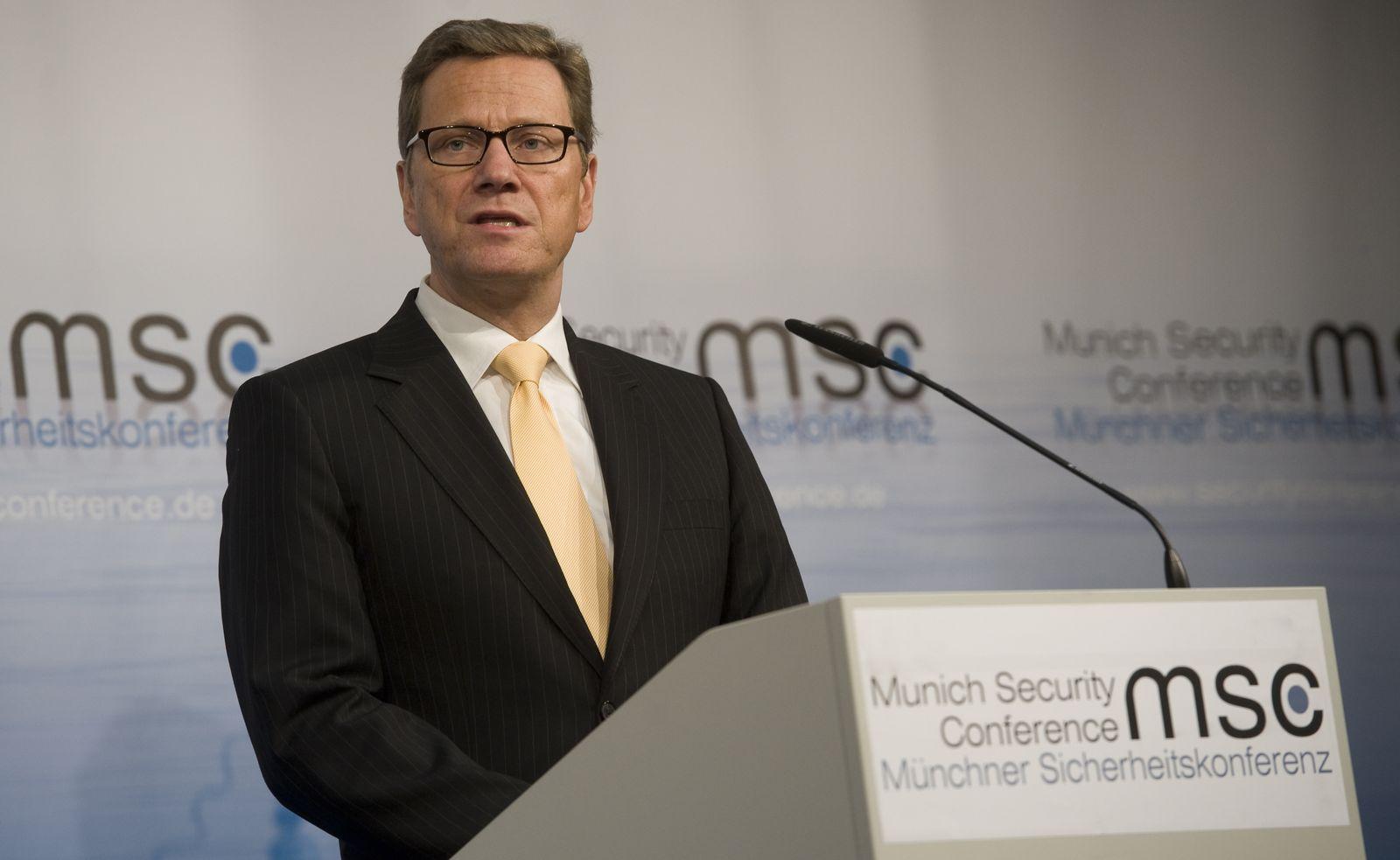 NICHT VERWENDEN Guido Westerwelle / Sicherheitskonferenz